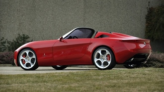 red car, �����, alfa romeo, spider
