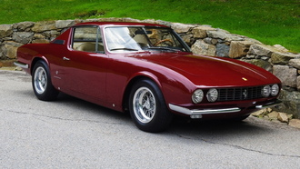дорога, 1967, фары, 330 gt, ferrari, coupe by michelotti, камни, классика