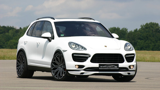 tuning, 3072x2048, sky, speedart, porsche cayenne, ������, car, �������, ����, trees