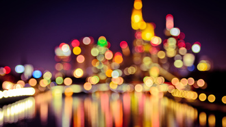 frankfurt bokeh lights, ��������, ���������-��-�����, ����, �����