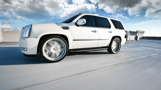 белый, escalade, кадиллак, white, эскалад, speed, wheels, cadillac