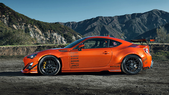 widebody, style, mountain, fr-s, orange, wheels, tuning, spoilers, toyota, rims, scion, 86
