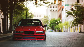 bmw, tuning, �������, ������, red, ���, e36