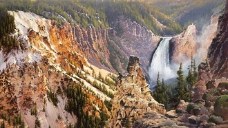bruce cheever, power and grace lower falls of the yellowstone, �������, ��������