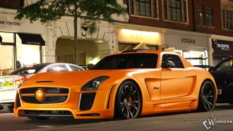 Mercedes, SLS, Fab Design, orange, mercedes sls, ��������