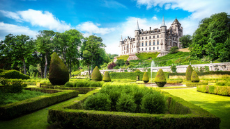 great britain, scotland, sutherland, alba, dunrobin castle, ���������