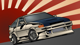 jdm, stance, ae86, front, ���, ������, corolla, toyota, ������