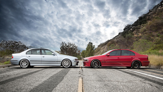 face to face, red, e39, bbs, �������, m5, blue, �������, bmw, ���, wheels