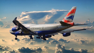 british airways, самолет, 747, пассажирский, аэропорт, boeing
