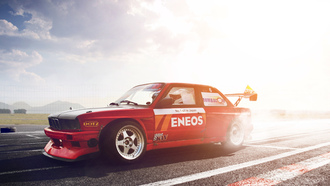 3 �����, red, bmw, ��������, turbo, ���, tuning, e30. drift, �������