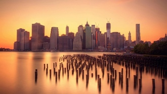 docks, financial district, manhattan, water, smooth, new york, silk