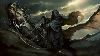 ����, the lord of the rings, ��������� �����, art, nazgul, ������