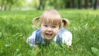 stylish little girl , child, park, happiness, children, smiling, grass, childhood