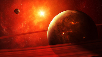 red, planet, sci fi, apocalypse, light
