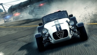 need for speed most wanted 2, lotus caterham seven superlight r500, погоня, гонка, еа