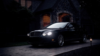 полумрак, бентли, car, купе, bentley continental gt