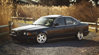 ������, 525, ���, 5 �����, black, tuning, e34, bmw