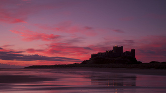 ��������������, bamburgh castle, �����, great britain, england, ������