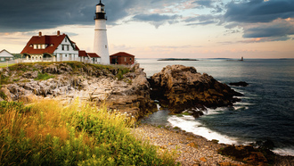 maine, ���������, ����� ���, portland head light, ����, cape elizabeth