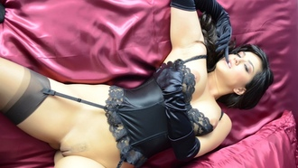 �������, sunny-leone-sheets-tits-corset-gloves-pussy