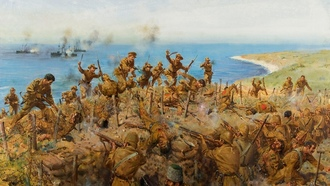 "художник теренс кунео, ww1, ""the battle for sari bair"""