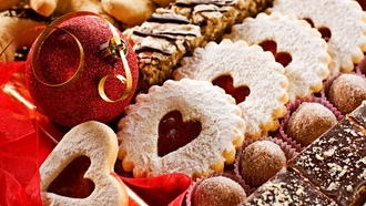 holiday, cookies, balls, happy new year, candy, merry christmas, christmas decoration, cakes