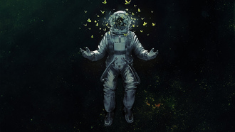 ������, astronaut, ��������, space, �������, ���