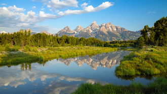 вайоминг, гранд-титон, озеро, горы, wyoming, grand teton national park