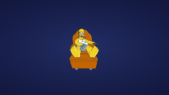the simpsons, симпсоны, диван, минимализм, гомер, homer