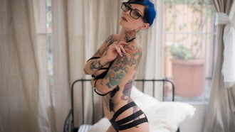 riae, petite, cute, model, skinny, delicious, sexy, perfect girl, nipples, piercing, glasses, lingerie, tattoo, hot ass