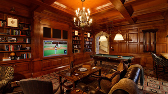 table., game, billiard, room, interior