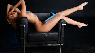 rina c, blonde, sexy girl, adult model, nude, naked, sexy legs, sexy body, chair, hi-q