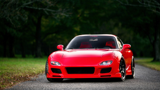 �����, mazda, �������,  rx-7, front, fd, red
