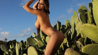nude, girls, boobs, legs, sexy, cactus, krystal webb, gorgeous, outdoors, tan, tanned hottie, beautiful