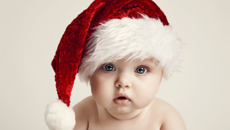 new year, kid, big beautiful blue eyes, merry christmas , adorable funny, happy baby, children