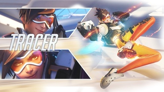 Blizzard, Game, Girl, Lena Oxton, Overwatch, Tracer, �������, ����, ���� ������, ����, ���������, �������
