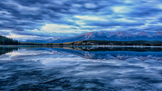 �������, canada, alberta, pyramid lake, ��������, ������, jasper national park