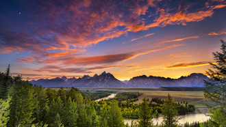 snake river, гранд-титон, usa, wyoming, grand teton national park