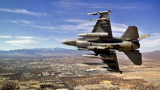 ������������, �����������, f-16, fighting falcon, ������������