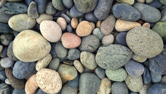 round, colorful, yellow, grey, stones, blue, green