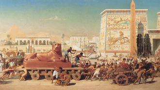 painting, ��������, edward poynter, 1867, �������, israel in egypt