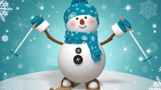 snow, ����� ���, winter, ���������, snowman