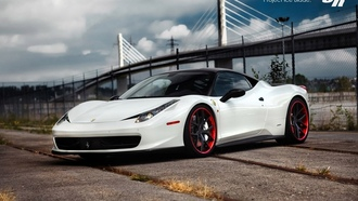 wallpapers, ice, italia, project, blade, beautiful, car, tuning, 458, ferrari, white, srauto