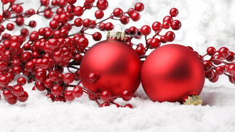���������, ornaments, new year, ����, cherry, balls, christmas, decoration