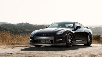 ����, mountains, ���, ������, shadow, ����, ������, black, r35, gtr, nissan