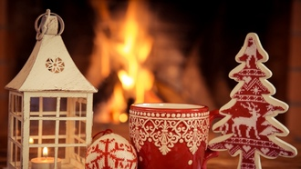 Christmas, Xmas, fire, cup, decoration, ���������, ����� ���, �����, ������, �����, �����, ������, ���������