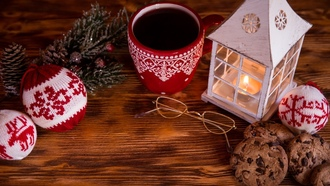 Christmas, Xmas, fire, cup, decoration, ���������, ����� ���, ����, �������, �����, ���������