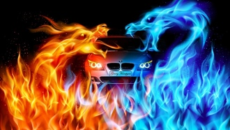 dragon, bmw, m5, e60, fire