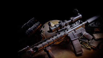 gun, weapon, assault carbine, ��������������, m4, �������
