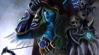 world of warcraft, sylvanas, windrunner, elf, art, video games, fantasy